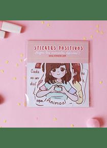 Piyoasdf - Pack Stickers Positivos 2
