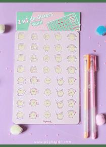 Piyoasdf - Pack Stickers y Planner Pollitos
