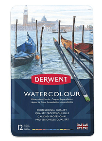 Derwent Watercolour - Set de 12 Lápices Acuarelables