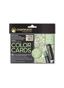 Chameleon Color Cards - Tarjetas para Colorear; Estampados Florales