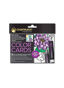 Chameleon Color Cards - Tarjetas para Colorear; Naturaleza