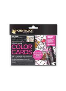 Chameleon Color Cards - Tarjetas para Colorear con Relieve; Dulces