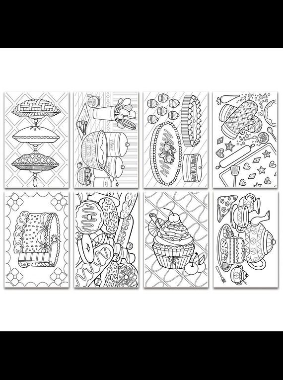 Chameleon Color Cards - Tarjetas para Colorear con Relieve; Dulces