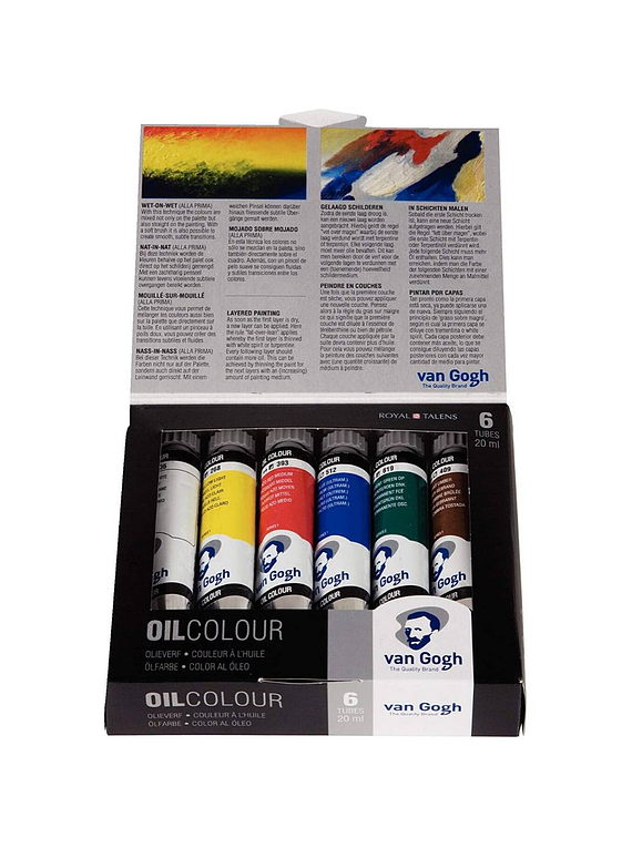 Van Gogh Oil Colour - Set 6 Óleos; 6 Tubos de 20 ml