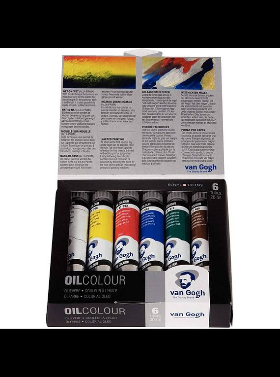 Van Gogh Oil Colour - Set 6 Óleos; 6 Tubos de 20 ml
