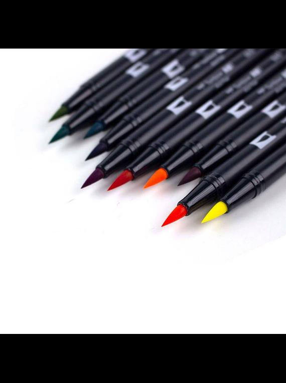 Tombow Dual Brush - Set 10 Marcadores; Colores Retro