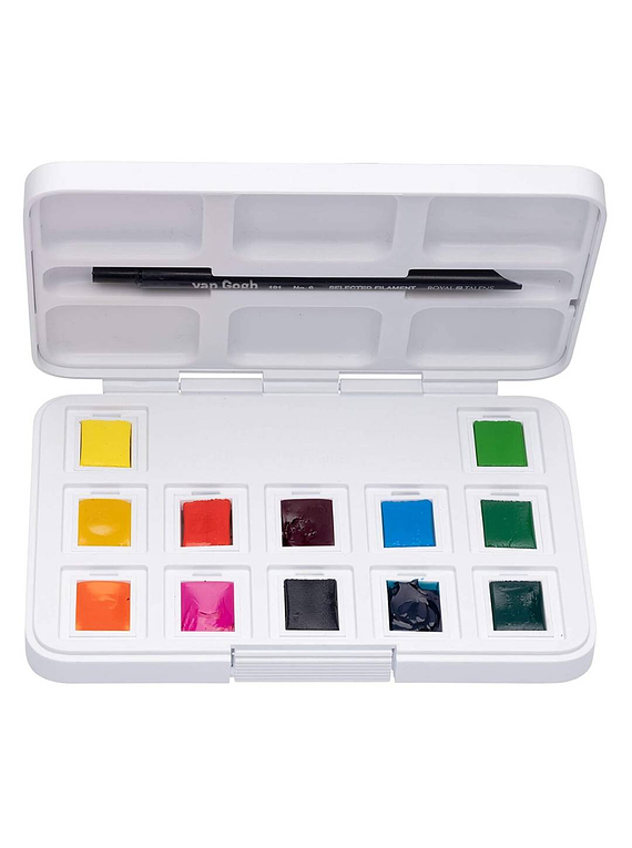 Van Gogh Pocket Box - Set 12 Acuarelas Colores Vibrantes