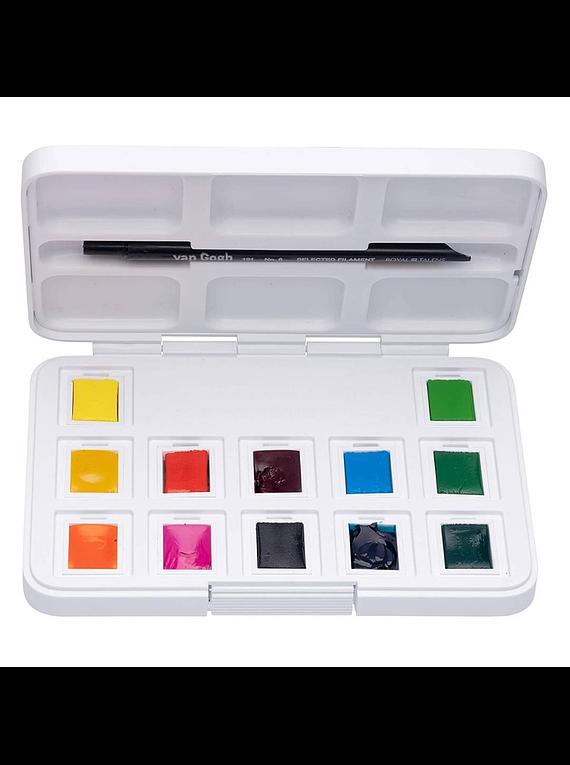 Van Gogh Pocket Box - Set 12 Acuarelas Colores Vibrantes