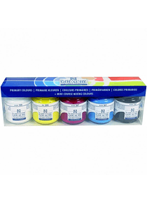 Royal Talens - Set 5 Pinturas Gouache Colores Primarios; Frascos 50 ml