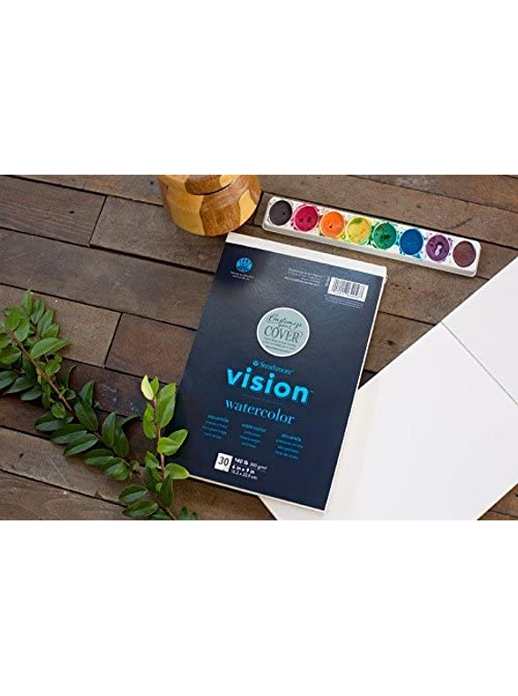 Strathmore Vision Watercolor - Block Acuarela 22,9 x 30,5 cm 300 g/m2 30 hojas
