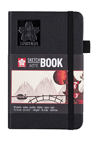 Sakura Sketch Note Book - Sketchbook Papel Blanco/Crema; 9 x 14 cm, 80 Hojas, 140 g/m2