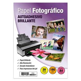 PAPEL FOTOGRÁFICO A4 AUTOADHESIVO 180 GR