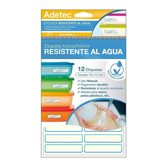 ETIQUETA PLÁSTICA RESISTENTE AL AGUA