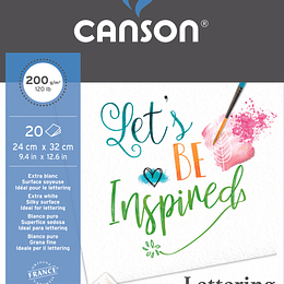 BLOCK PAPEL CANSON PARA LETTERING  200 GRS
