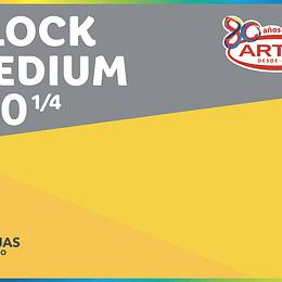 BLOCK DE DIBUJO 1/4 180 20 HJS MEDIUM
