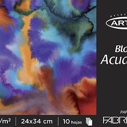 BLOCK FABRIANO ACUarela/TEM 10HJ 200GR. 24X34CM