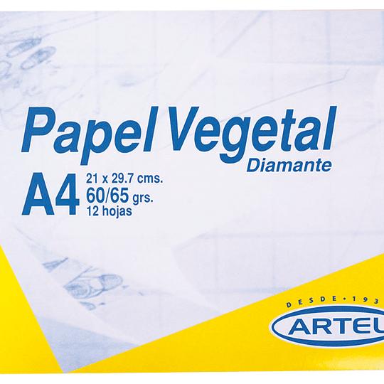 CARPETA C/PAPEL diamante vegetal A4