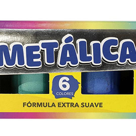 TEMPERA METAL 6 COL. 15ML