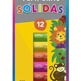 TEMPERA SOLIDA 12 COLORES