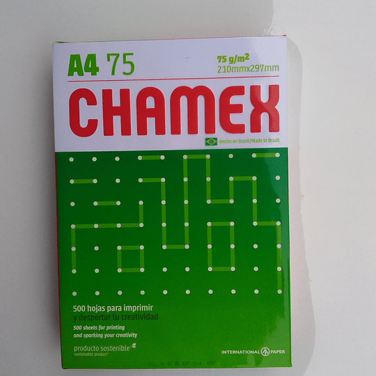 RESMA A4 CHAMEX 75G/M2 500 HOJAS