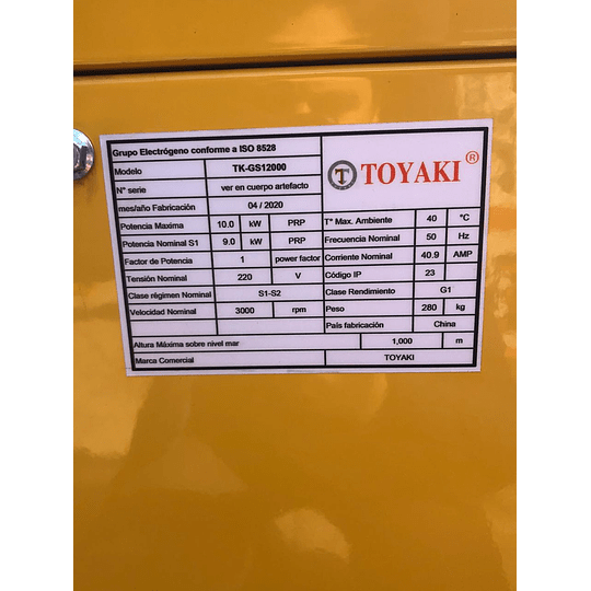 Generador Diesel Insonoro 12 Kva 220v  - Image 2