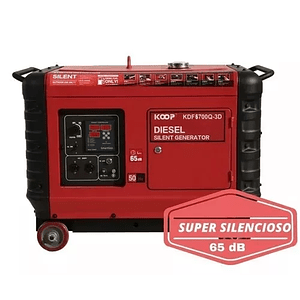 Generador Diesel Súper Silencioso 6 Kw KOOP