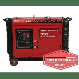 Generador Diesel Súper Silencioso 8 kva 6 Kw KOOP