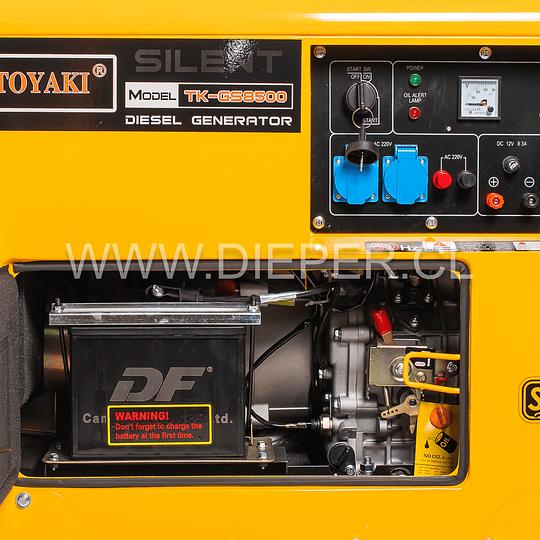 Generador Diesel Insonoro 6.5 kw toyaki 220v - Image 3