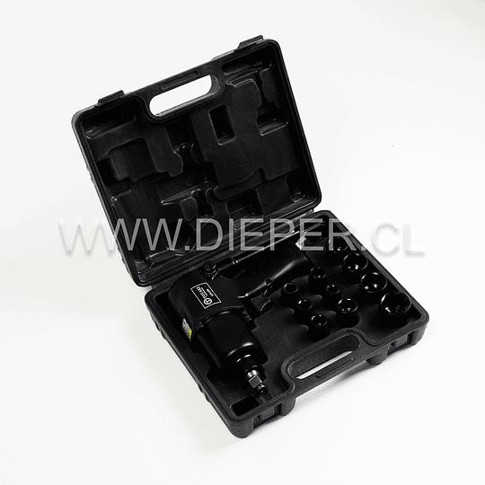 Pistola Neumática De Impacto 1/2 Con Dados Y Accesorios - Image 1