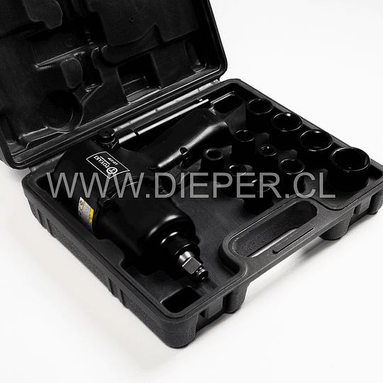 Pistola Neumática De Impacto 1/2 Con Dados Y Accesorios - Image 2