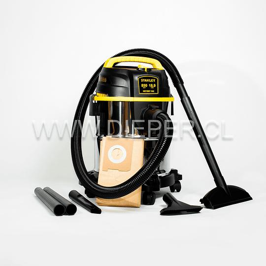 Aspiradora Acero Inox. 18l. 840w. Para Agua Y Polvo Stanley - Image 1