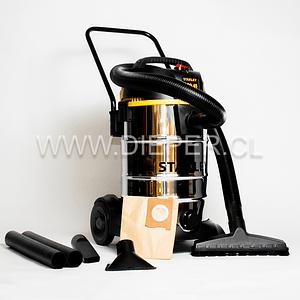 Aspiradora Acero Inox. 45l. 1200w. Para Agua Y Polvo Stanley