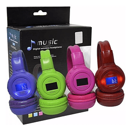 Diadema Bluetooth Radio Micro Usb Audifono Balaca Colores
