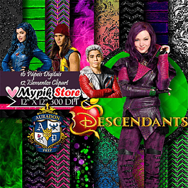 Kit Digital Descendentes Disney