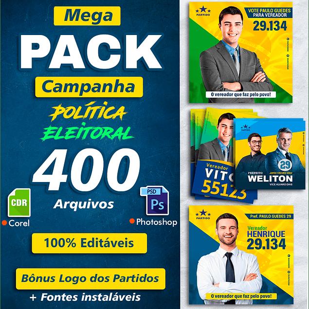 Pack Artes Eleições Políticas - Campanha 2020
