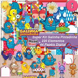 Kit digital Pintadinha de pollo para souvenirs y personalizado