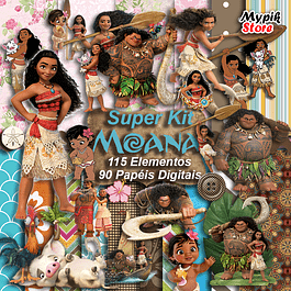 Kit Digital Moana para imprimir Scrapbook