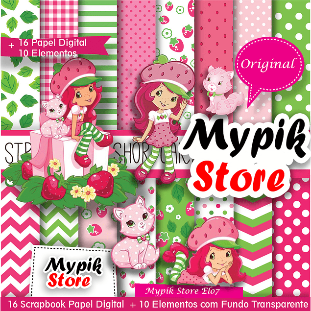 Kit de papel digital Strawberry Shortcake - 43