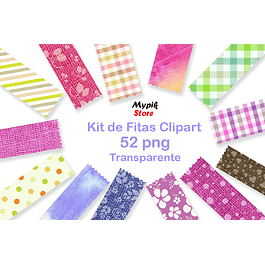 Kit Digital de Fitinhas clipart png - 01