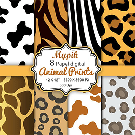 Kit Animal Papel Digital - 03
