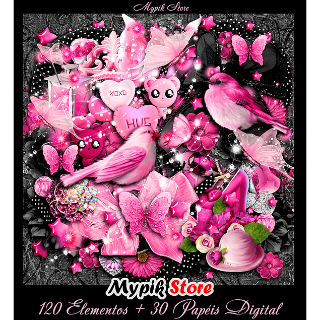 Kit Digital Scrapbook Rosa