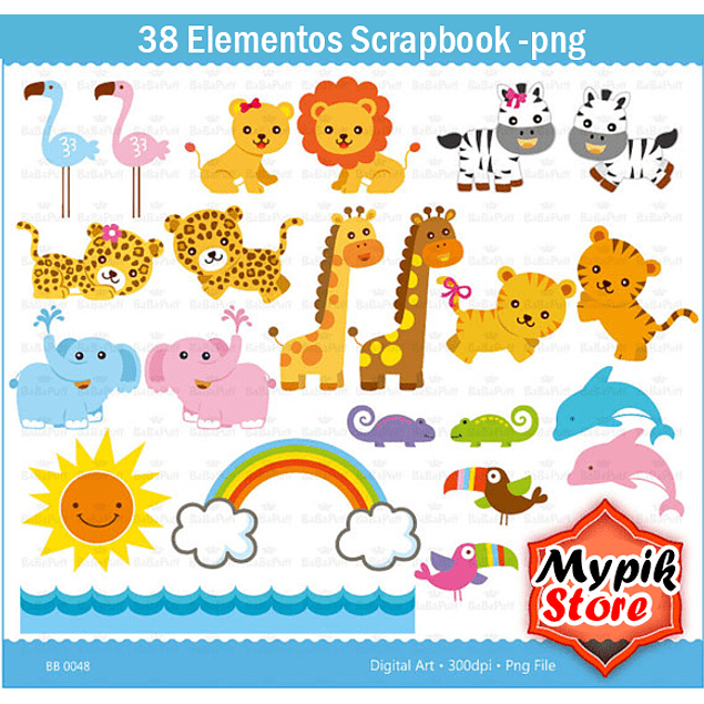 Kit Digital Arca de Noé Scrapbook