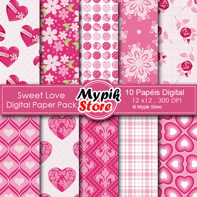Kit floral papel digital - Mod 33