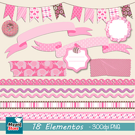 Kit Digital Fitas Tags Scrapbook