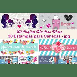 Kit Digital Dia das Mães para Canecas