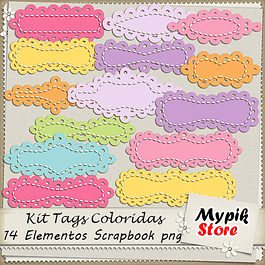 Kit Digital Tags Scrapbook