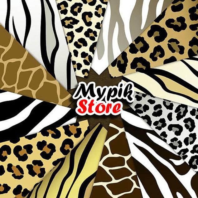 Kit de Papel Digital Animal Safari