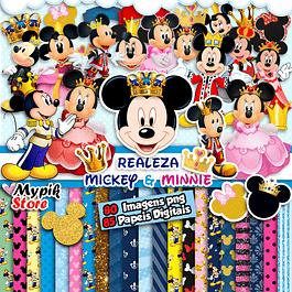 Kit Digital Mickey e Minnie Realeza