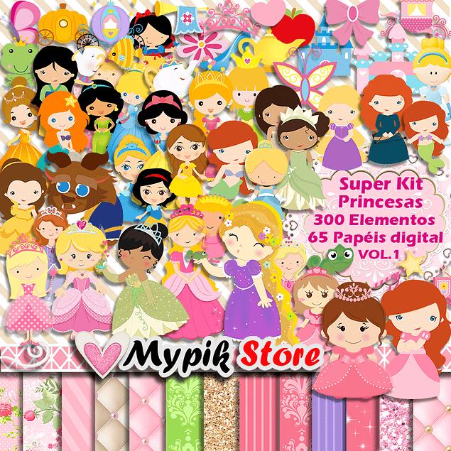 Kit Digital Princesas Disney Scrapbook - vol.1