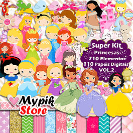 Kit Digital Princesas Disney Baby Scrapbook - VOL.2